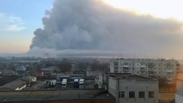 """Pożar w największym składzie amunicji na Ukrainie. """"Doszło do dywersji"""""""
