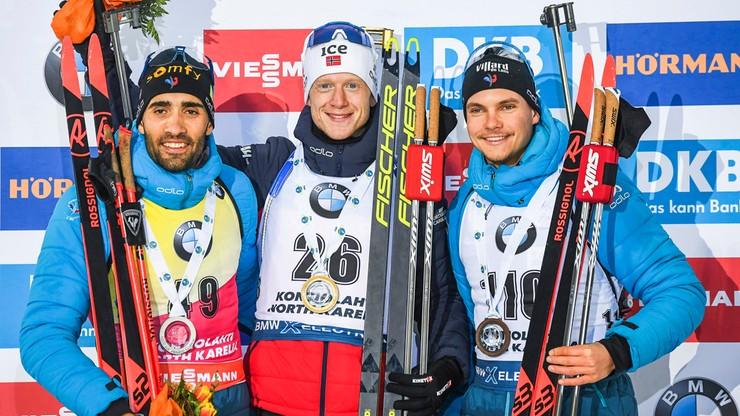 PŚ w biathlonie: Boe wygrał sprint w Kontiolahti