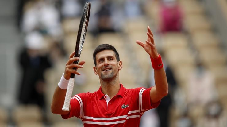Roland Garros: Novak Djoković awansował do 1/8 finału