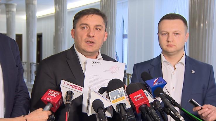"""""""Ile kosztował protest w Sejmie?"""" - takiej informacji chce Kukiz'15 od Kuchcińskiego i Błaszczaka"""