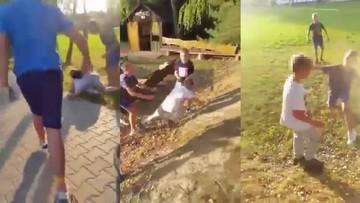 """""""Dawaj go! Z lewej, z prawej"""". Grupa dzieci zaatakowała 9-latka, nagrania wrzucono do sieci"""