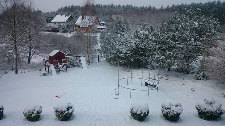 Zima na Kaszubach. Miejscowość Kobysewo