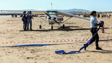 Samolot awaryjnie lądował na zatłoczonej plaży. Zginęli 50-letni mężczyzna i 8-letnia dziewczynka, którzy tam wypoczywali