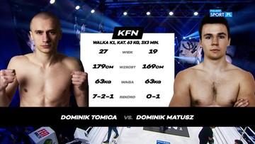 Dominik Tomica - Dominik Matusz. Skrót walki