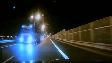 Ciężarówką pod prąd na trasie S8. Kierowcy byli w szoku