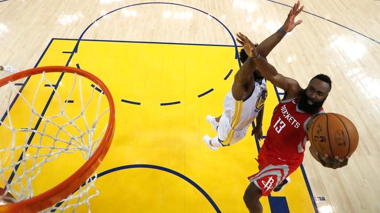 NBA: 58 punktów Hardena, druga z rzędu porażka Warriors