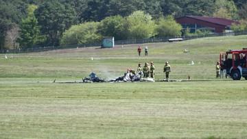 Wypadek prywatnego samolotu. Nie żyje pilot