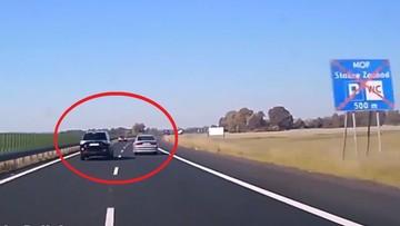 """85-letnia kobieta jechała """"pod prąd"""" drogą ekspresową S3. Inny kierowcy cudem uniknął zderzenia"""
