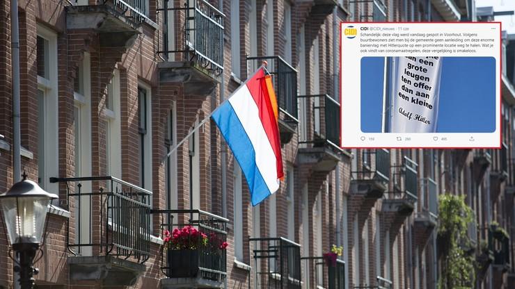 Holandia. Policja usunęła flagę z cytatem z Hitlera