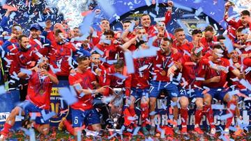 Gracze Rakowa przerwali konferencję prasową! Wielka radość zdobywców Pucharu Polski (WIDEO)