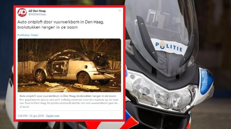 Eksplozja auta na polskich tablicach rejestracyjnych w Holandii. Policja: to mogła być bomba