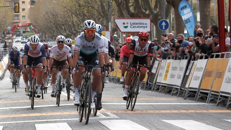 Peter Sagan wygrał etap wyścigu Dookoła Katalonii. Adam Yates wciąż liderem