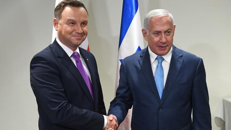 Prezydent Duda spotkał się z premierem Izraela. Rozmawiali o współpracy gospodarczej i wojskowej