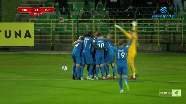 Górnik Polkowice - Puszcza Niepołomice 0:1. Zwycięska bramka