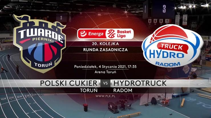 Polski Cukier Toruń - HydroTruck Radom 81:67. Skrót meczu