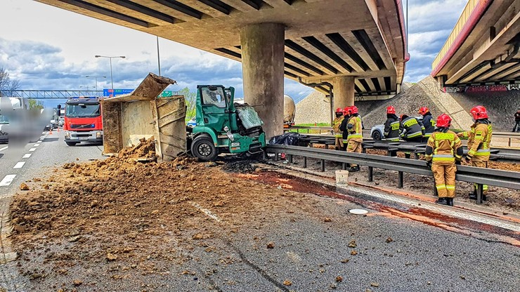 Tragiczny wypadek na A4. Nie żyje kierowca ciężarówki