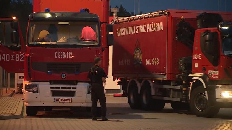 """Polscy strażacy w Niemczech. """"Chcemy pomóc naszym sąsiadom"""""""