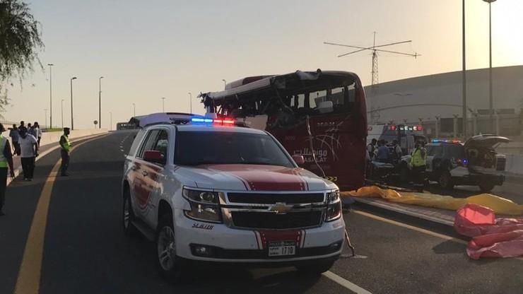 Wypadek autokaru w Dubaju. Nie żyje 17 osób
