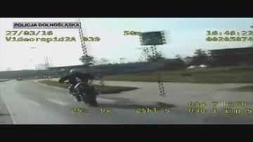 """Rajd motocyklisty-pirata. Uciekał policjantom, """"bo się bał"""""""