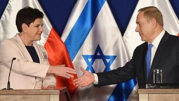 """""""Chciano zniszczyć zarówno Polaków, jak i Żydów"""". Szydło spotkała się z premierem Izraela"""