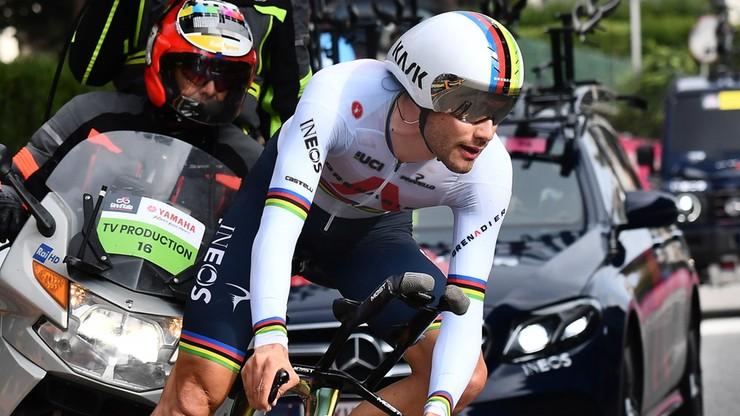 Giro d'Italia: Filippo Ganna wygrał kolejną czasówkę, awans Rafała Majki