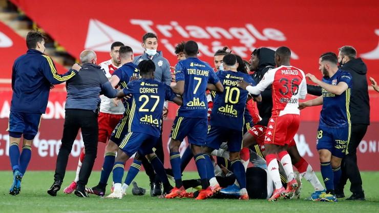 Gigantyczna awantura po meczu AS Monaco - Lyon! Bójka i cztery czerwone kartki (WIDEO)