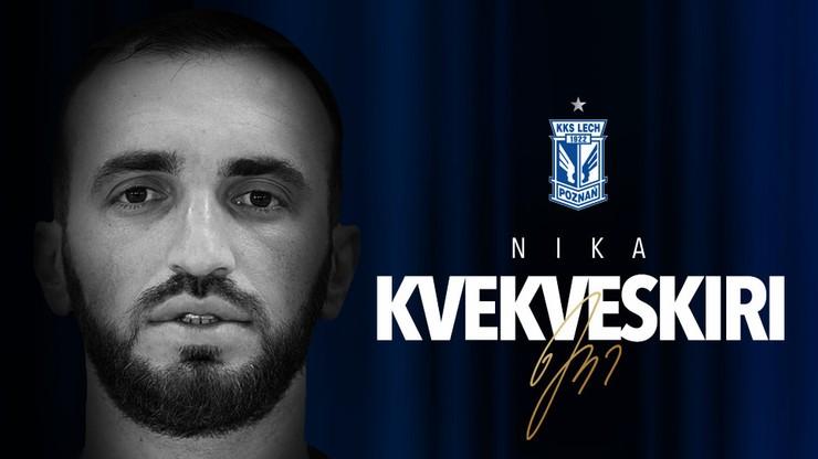 Nika Kwekweskiri piłkarzem Lecha Poznań