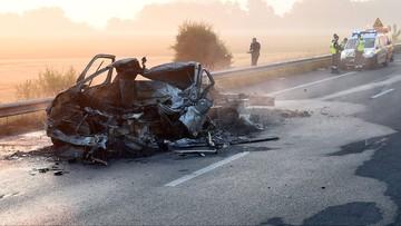 Tragiczny wypadek polskiego samochodu w pobliżu Calais. Kierowca nie żyje