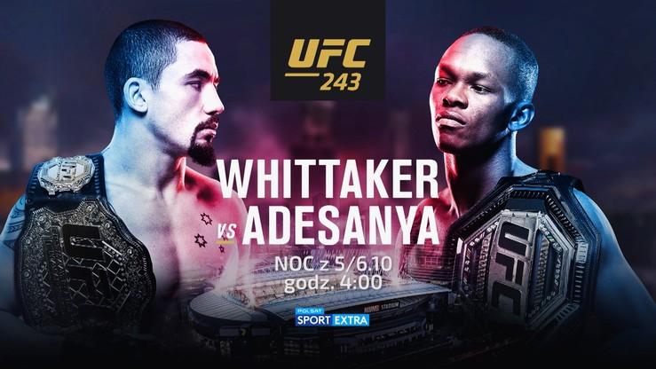 UFC 243: Whittaker - Adesanya. Transmisja w Polsacie Sport Extra