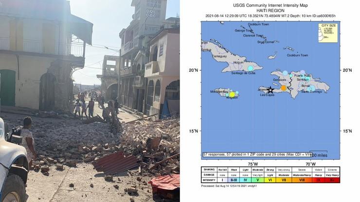 Trzęsienie ziemi na Haiti. Duże zniszczenia, nie żyje co najmniej 227 osób