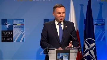 Prezydent o szczycie NATO: my Polacy cieszymy się, że nacisk na podnoszenie wydatków jest tak duży