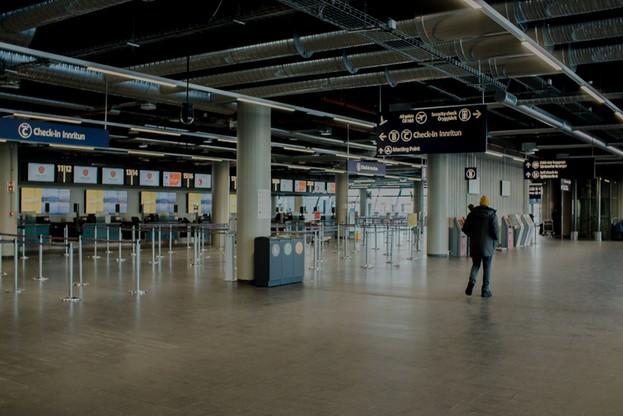 Pustki na islandzkim lotnisku