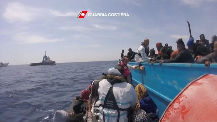 Ok. 2300 migrantów uratowano na Morzu Śródziemnym