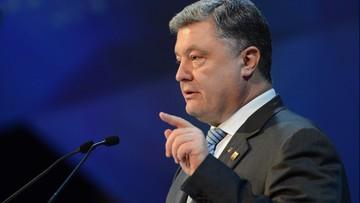 Poroszenko: siły ONZ mogłyby zakończyć konflikt w Donbasie