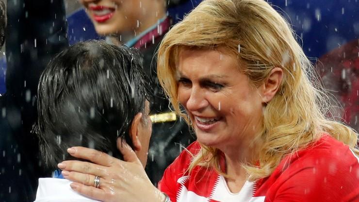 """Prezydent Chorwacji podbiła serca kibiców, ale... nie tych ze swojego państwa. """"Wstyd dla kraju"""""""