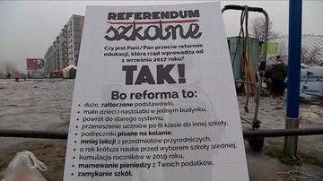 """""""Naród zdecyduje i będziecie mieli święty spokój"""". Manifestacja za referendum ws. reformy edukacji"""
