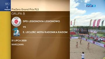 DPD Legionovia Legionowo – E.Leclerc Moya Radomka Radom 2:0. Skrót meczu