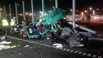 Śmiertelny wypadek na  A1. Cysterna wjechała w ciężarówkę