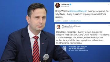 Kosiniak-Kamysz mówił o walce PiS z PO. Tusk zareagował na Twitterze
