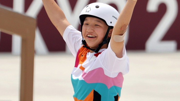 Tokio 2020. 13-letnia Momiji Nishiya ze zlotym medalem w skateboardingu