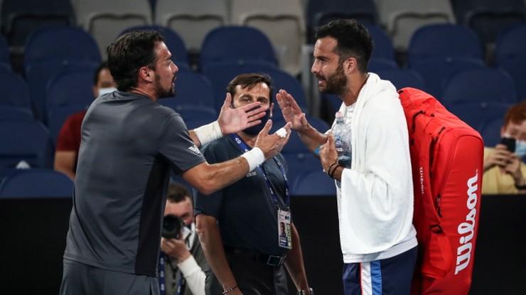 Australian Open: Ostra kłótnia Fabio Fogniniego i Salvatore Caruso po meczu