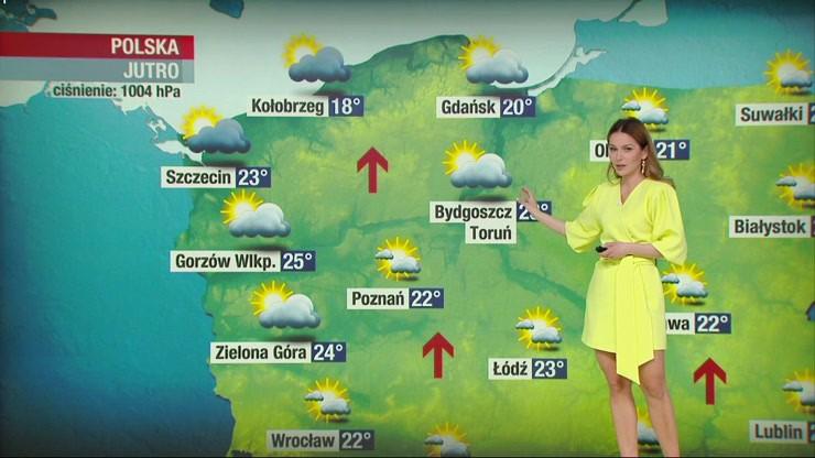 Prognoza pogody - niedziela, 9 maja - popołudnie