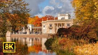 23-10-2021 05:59 Tam jest pięknie. Złota jesień w Łazienkach Królewskich w Warszawie. Zobacz relaksacyjny film w 8K