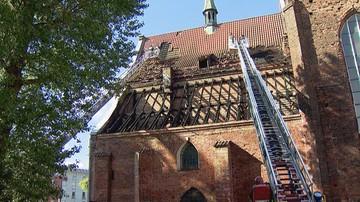 Spłonął fragment poddasza zabytkowego kościoła w Gdańsku