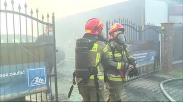 Śląskie. Pożar hali i warsztatu w Chorzowie