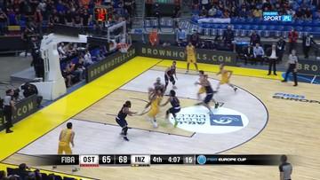 Kuriozalna sytuacja w finale FIBA Cup! Zawodnik popisał się samobójczym trafieniem