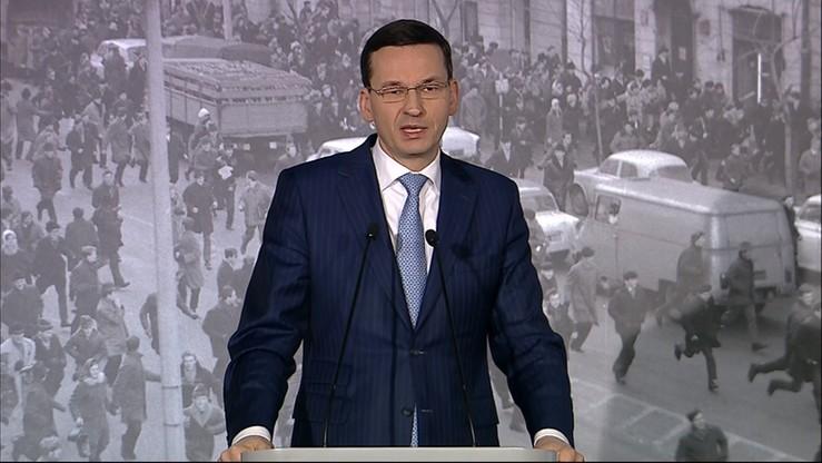 Morawiecki: Marzec'68 powinien być powodem do dumy, a nie do wstydu