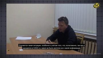 Pratasiewicz przyznaje, że został wrobiony. Nagranie białoruskiej telewizji