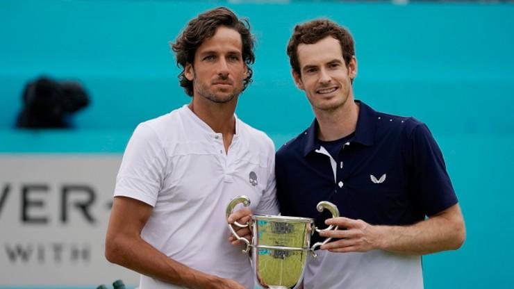 ATP w Londynie: Murray powrót do gry uczcił triumfem w deblu