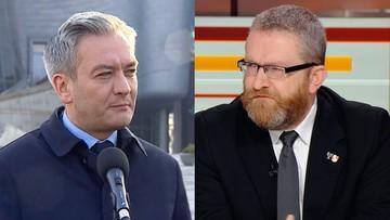 """""""Partia zawodowych sodomitów"""". Braun po konferencji Biedronia"""
